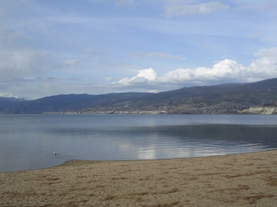 Beach at Penticton on Okanagan Lake