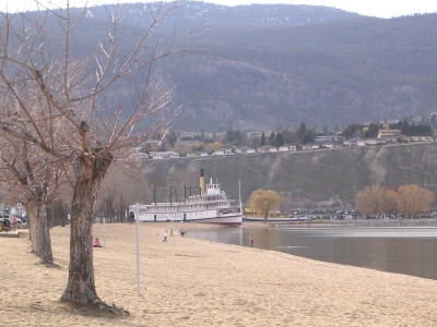 SS Sicamous on Penticton Beach, Okanagan Lake